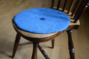 Sittunderlag i ull, blå