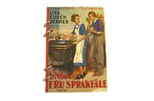 """Anteckningsbok """"Unga fru sprakfåle"""" med handgjort papper"""