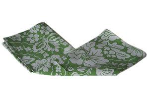 Tygnäsduk av påslakan - grönblommig