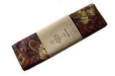 Mårdapåsen; stor - vinrött mönstrad