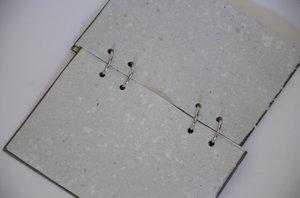Pärlemorskimrande grön anteckningsbok